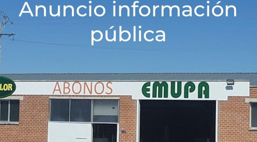 Anuncio información pública