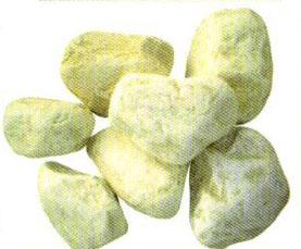 Piedra de mármol de canto rodado Bolo Amarillo